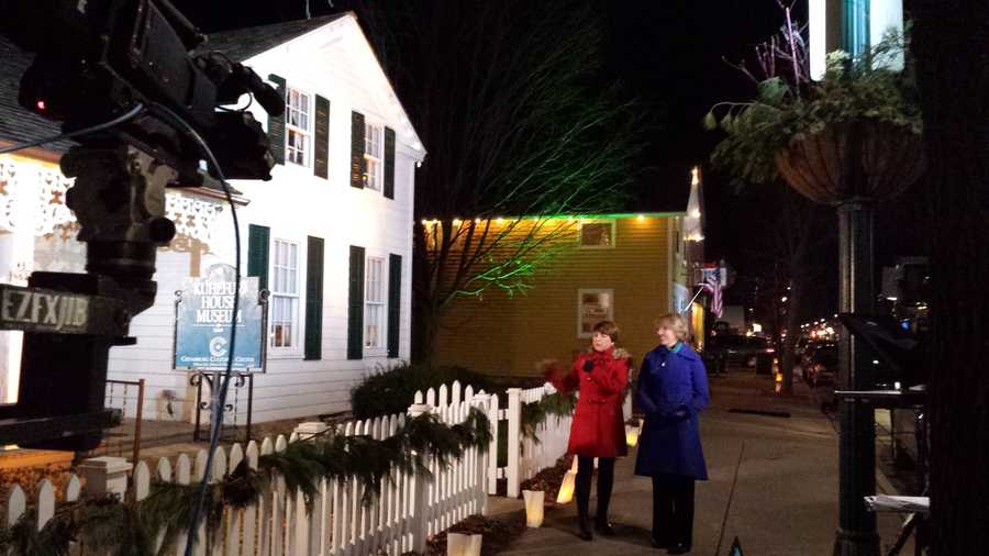 The outside of the Kuhefus House Museum is the setting for another portion of Kathy & Joyce's segments.