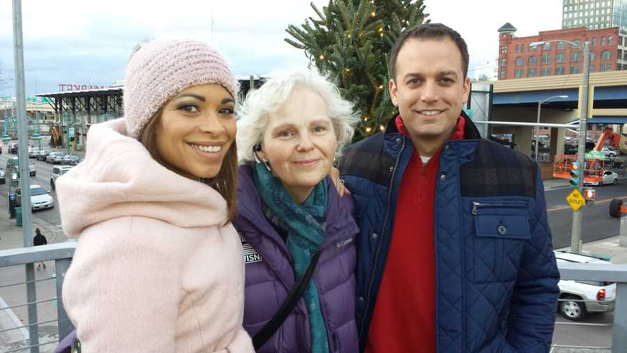 Our Executive Producer on top of Cafe Benelux with Patrick Paolantonio and Toya Washington.