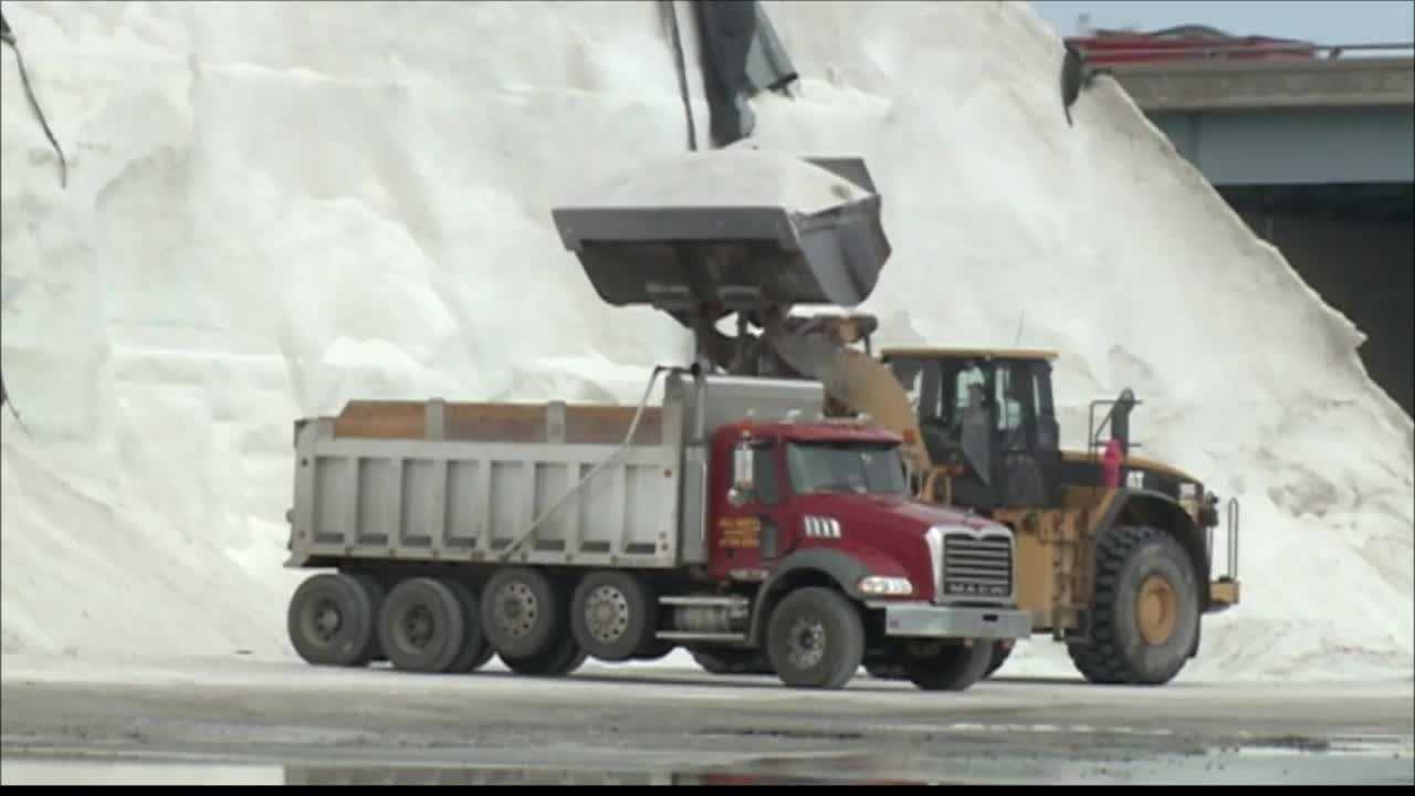 DPW has loaded 96 trucks with salt to be poured on what are soon to be icy roads. The trucks will take to the streets at 2 a.m. Monday.