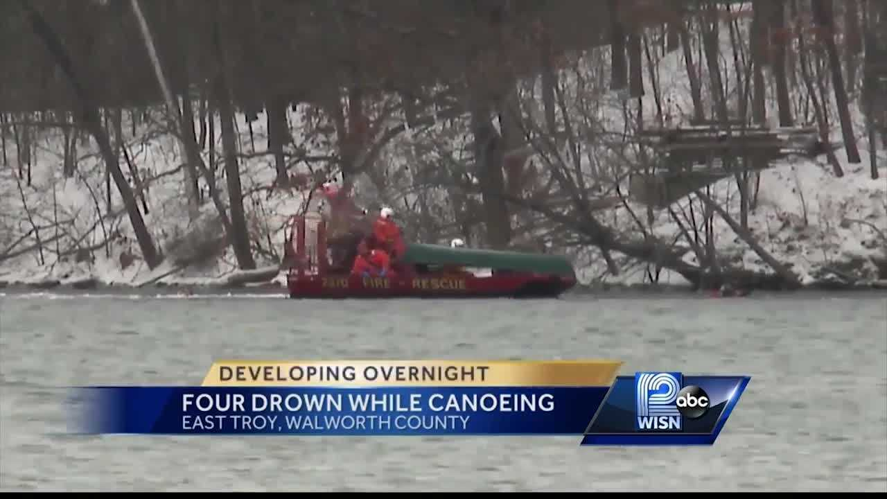 Crews will continue to search on Mill Lake after a canoe with four people failed to return to shore.