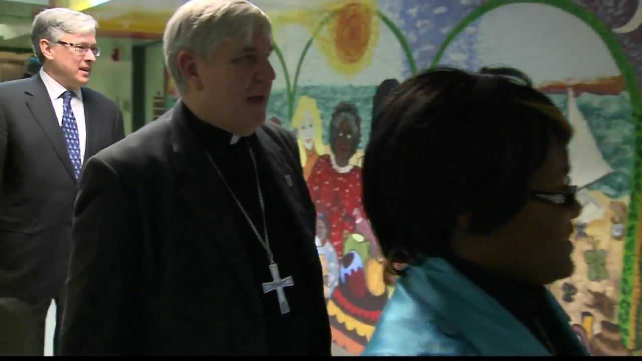 Archbishop Listecki visited St, Catherine Residence that extends help to women of domestic abuse