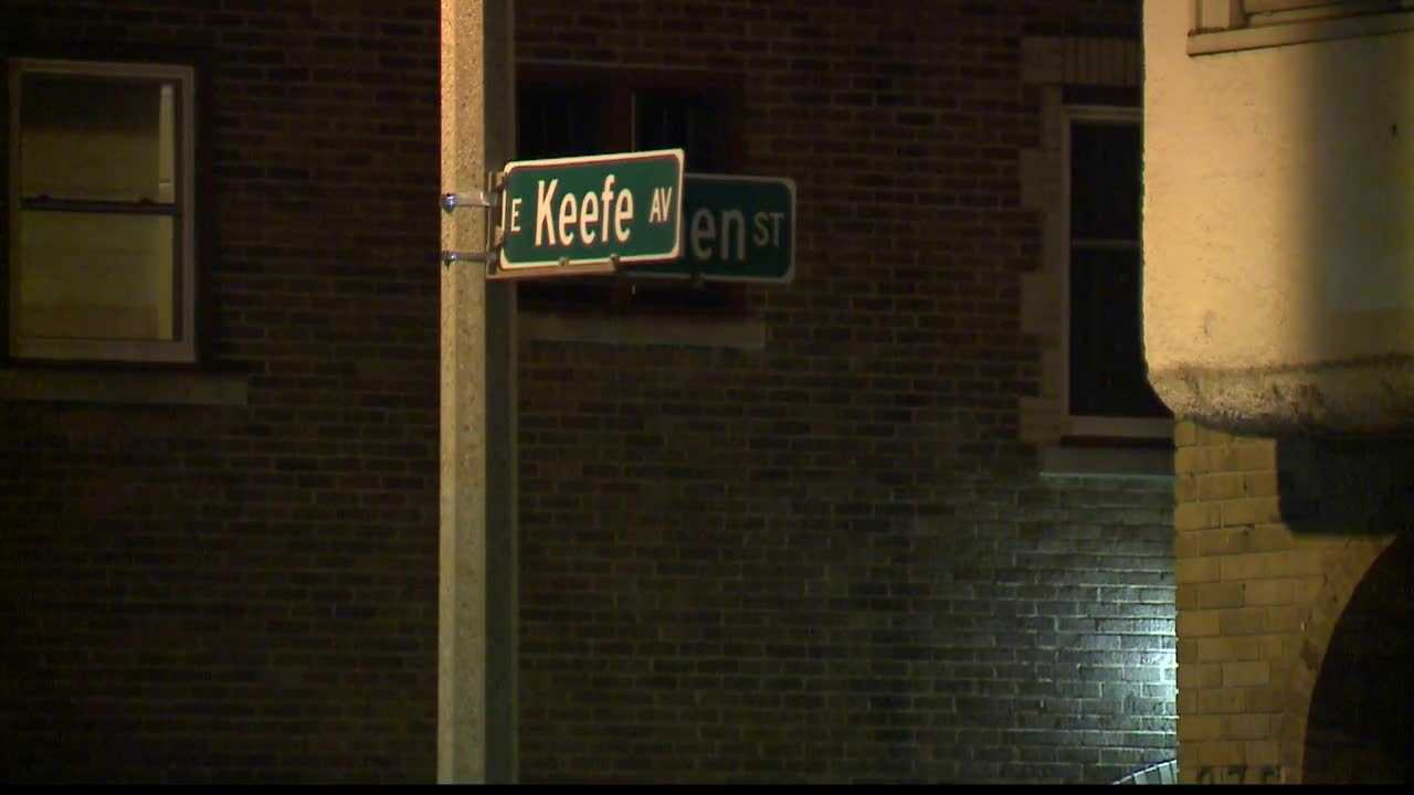 The body of a 21-year-old woman was found Sunday morning near Keefe Avenue and Bremen Street.