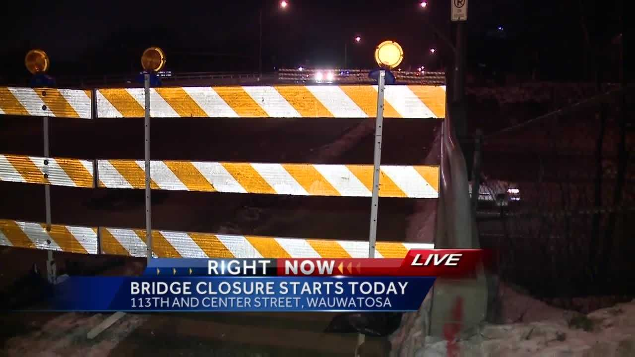 The Center Street Bridge, spanning I-41, will be closed until fall.