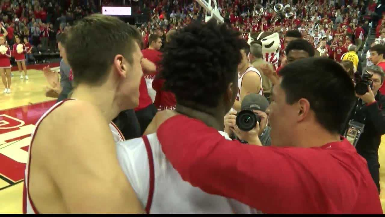 Wisconsin upset No. 19 Indiana in overtime. The Badgers haven't lost to the Hoosiers in Madison since 1998.