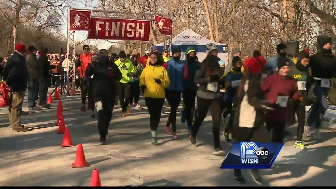 Despite frigid temperatures Saturday, participants in the Steve Cullen Healthy Heart Run and Walk hit the trail.