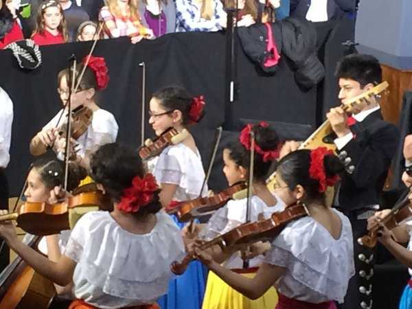 Members of the Latino Arts Strings Program entertained the crowd.