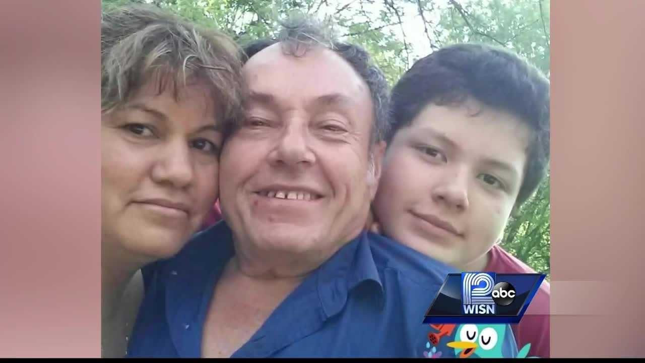 Miguel Arvelo arrived at National Hall Saturday morning to see his wife and son had been killed by his adult stepdaughter, who afterward turned the gun on herself.