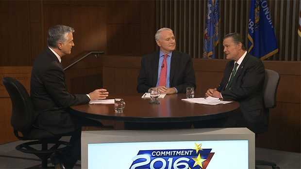 The two men running for Milwaukee mayor debated Friday at the Marquette University law school.