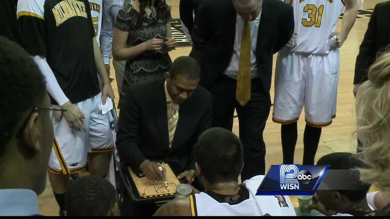 The UWM Athletic Department fired long-time coach Rob Jeter on Thursday. State Sen. Lena Taylor was at a press conference on his firing to confront Athletic Director Amanda Braun.