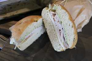 One of the two new deli sandwiches featured, Turkey Focaccia sandwich.