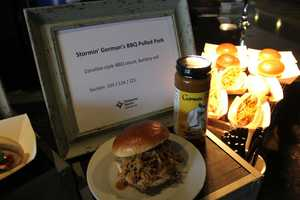 Stormin' Gorman features a Carolina-style BBQ sauce on a buttery roll.  It can be found in sections 103, 124 & 221.
