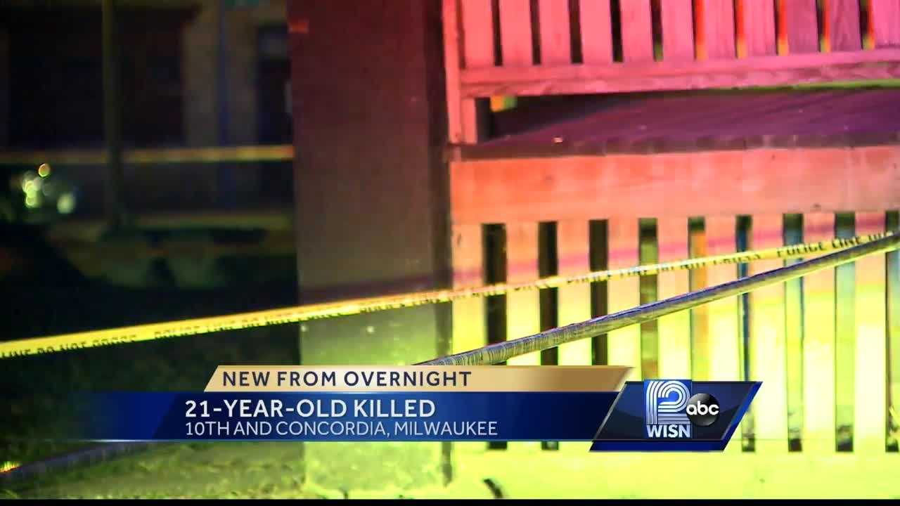 Milwaukee police say a 21-year-old man was shot and killed Friday night near 10th and Concordia. A 28-year-old man is in custody,