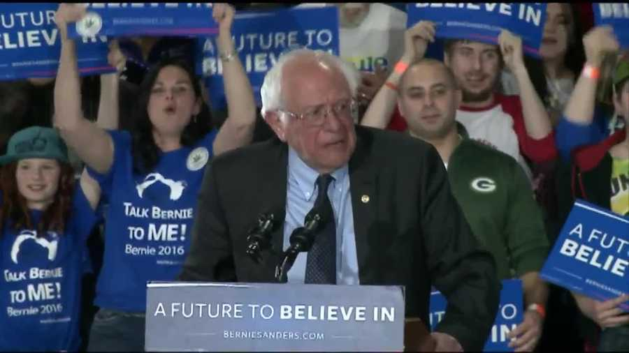 Democrat BernieSanders spoke to a crowd at State Fair Park Tuesday evening.