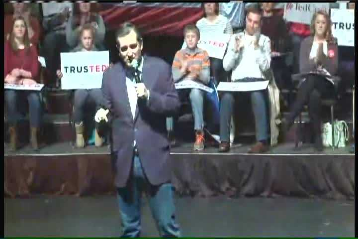 Republican Ted Cruz was a rally in Brookfield Tuesday morning.