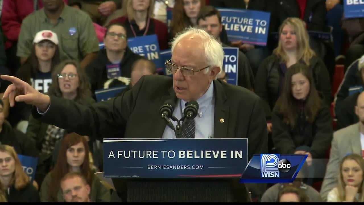 Candidate Bernie Sanders spoke to almost 2300 people at Carthage College