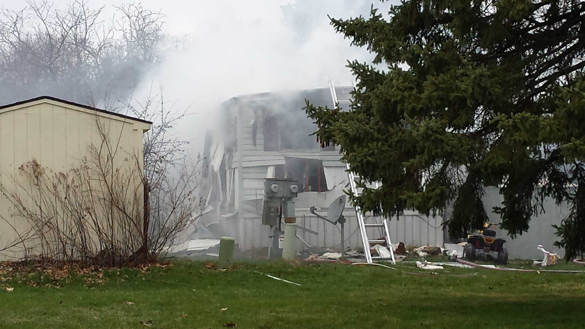 A family of five lost their mobile home in a fire Sunday afternoon.