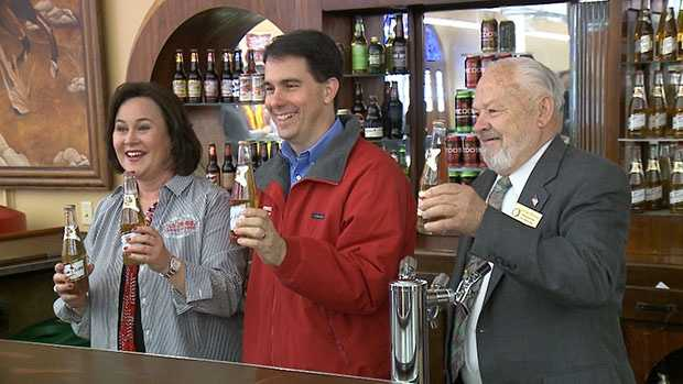 Gov. Scott Walker scheduled a number of stops around the state Friday, including the MillerCoors' visitor center in Milwaukee, to tout a report indicating an increase in tourism dollars spent in the state.