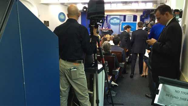 Inside the White House Briefing Room