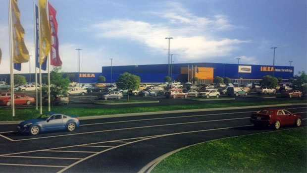 An artist's rendering of the new Ikea store to debut in Oak Creek in the summer of 2018.