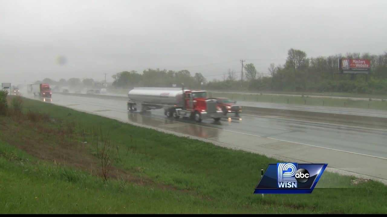 Because the pipeline between Milwaukee and Green Bay is shut down for repairs, trucks are spending more time on the road