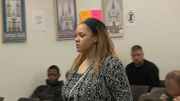 Latonya Renee James makes an initial court appearance on Wednesday, May 11, 2016.