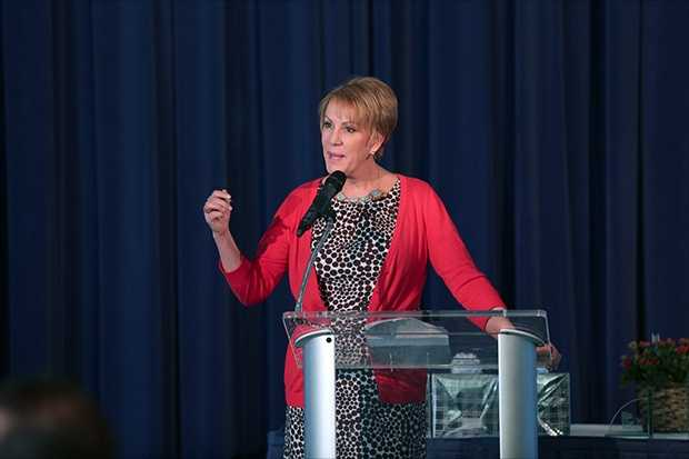 WISN 12 meteorologist Sally Severson served as master of ceremonies at the Top Teacher Honors, held at Discovery World.