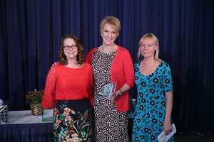 Michelle Boening (left) of Willow Glen Primary School was the Top Teacher of November 2015.