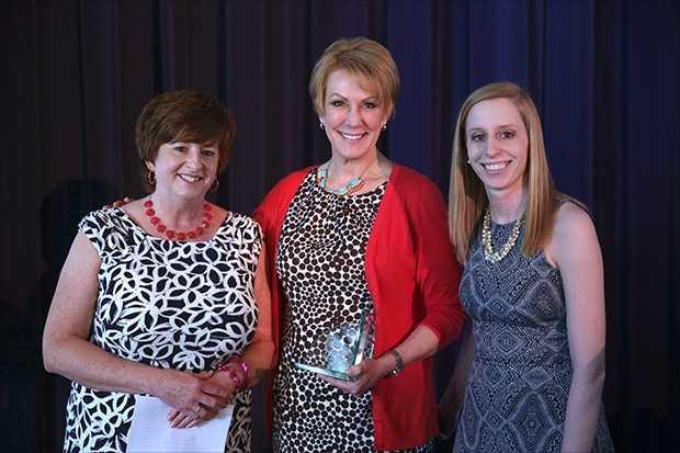 Lori Amstadt (left) of Muskego Elementary School was the Top Teacher of October 2015.