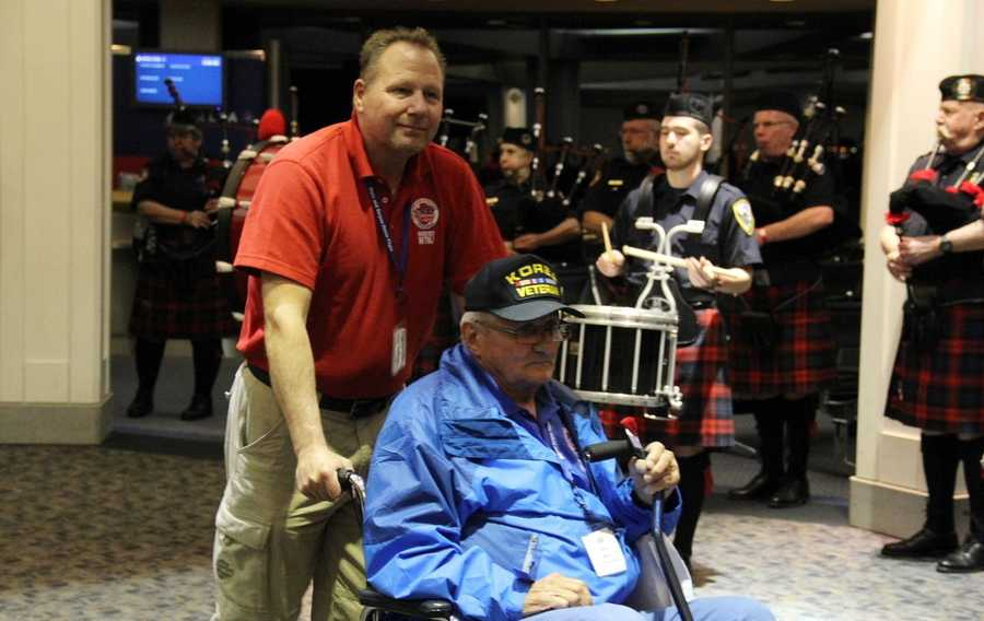 The veterans take a one-day trip to Washington D.C. to see the memorials built in their honor.