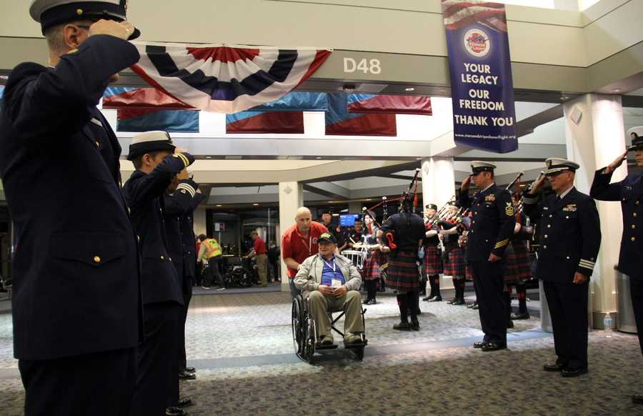 Honor Flight originally started to take WWII vets to see their memorial, which took more than 60 years after the war to build.