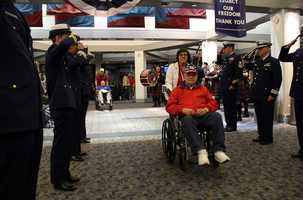 Many vets don't have the means to get to the memorials on their own so Honor Flight makes this possible.