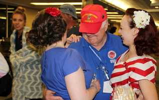 The SSHF Bombshells welcome home each of the vets...