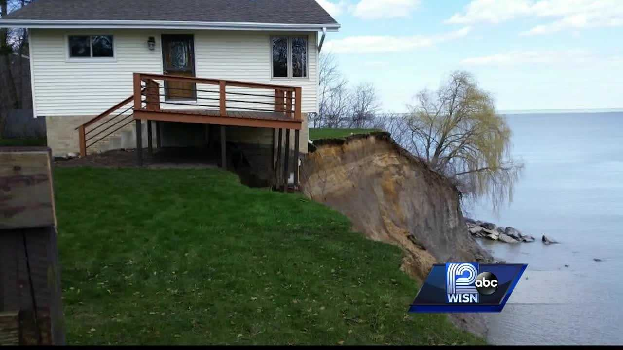 Erosion leaves homes teetering on the edge