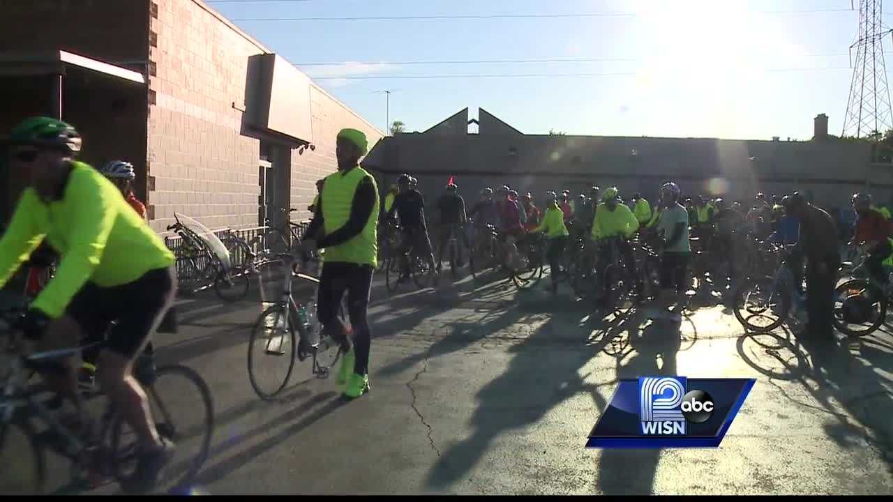 Ride held to remember those killed or injured in bicycle accidents.
