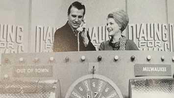 """Rosemary Gernette joined her husband, Howard Gernette, on WISN-TV's """"Dialing for Dollars"""" in August 1968."""