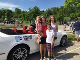 Big 12 Sports Stephanie Sutton (and family) represented WISN 12 in the parade.