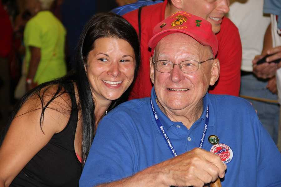 The 34th Stars and Stripes Honor Flight returned to Mitchel Airport on Saturday, June 11, 2016.