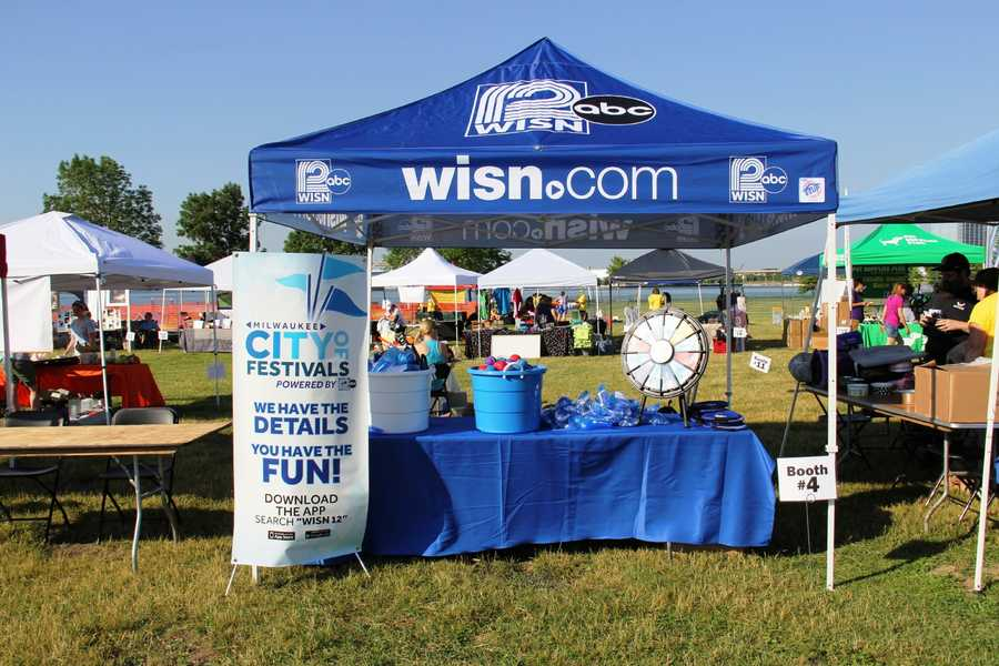 The vendor village was full of local business and sponsors, including WISN 12.