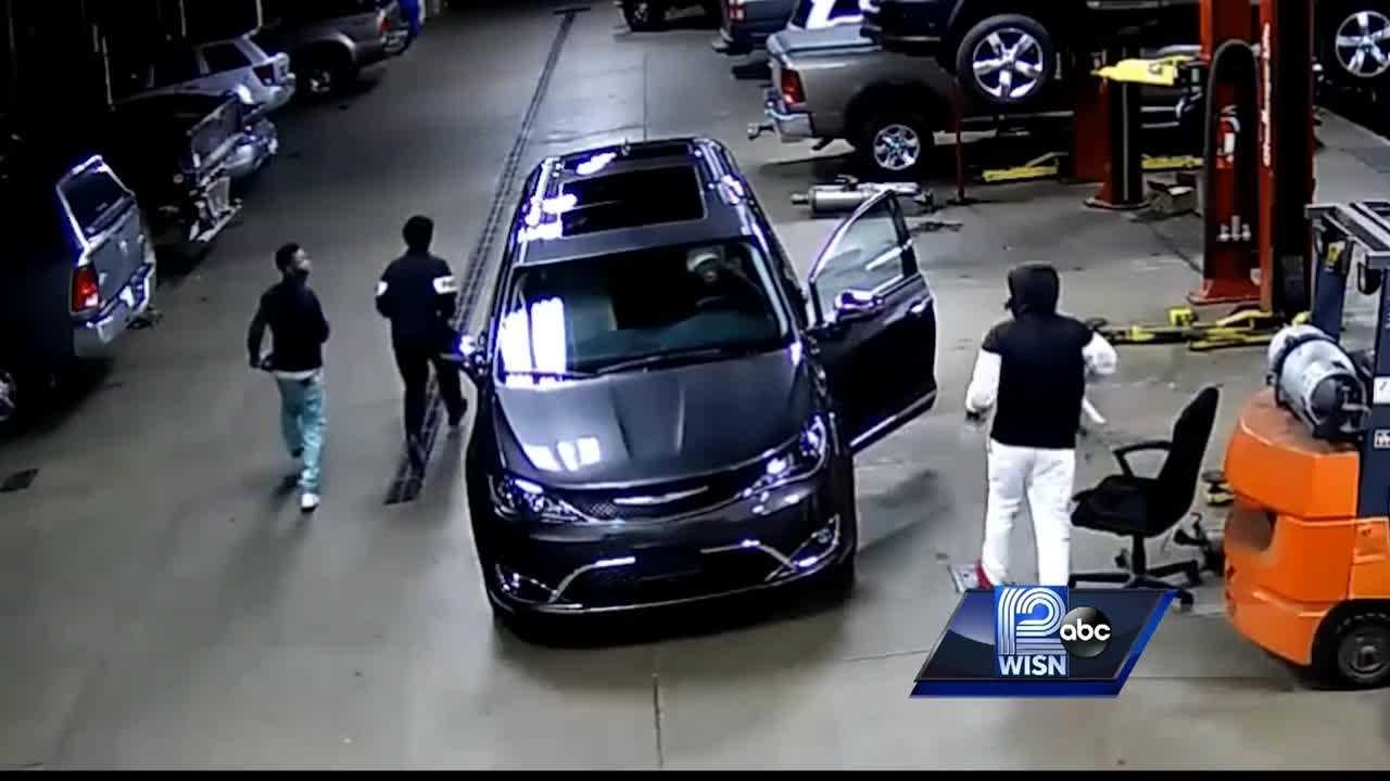 Surveillance video released in Cedarburg dealership car thefts