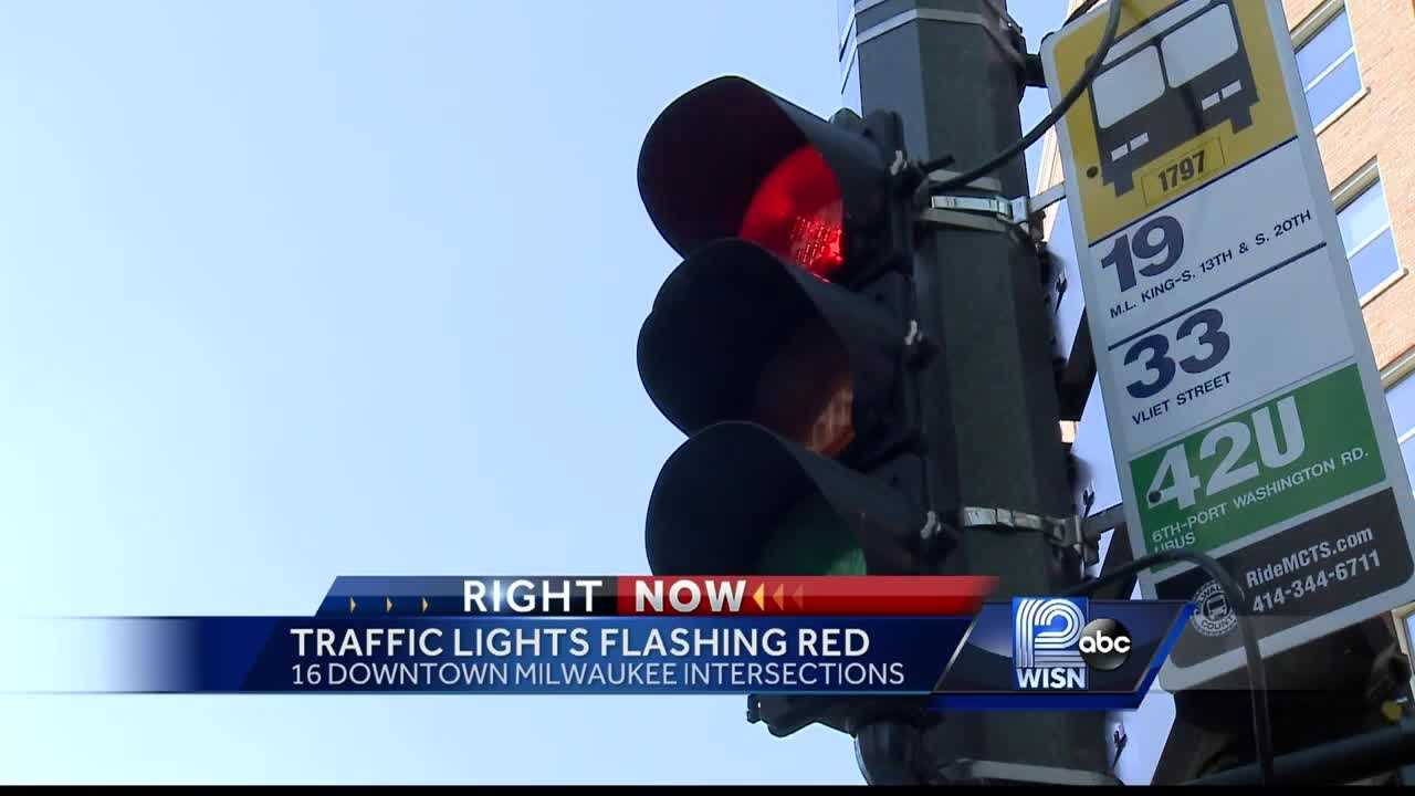 Sixteen downtown Milwaukee traffic signals will be turned off Saturday morning for repairs, a city official said.