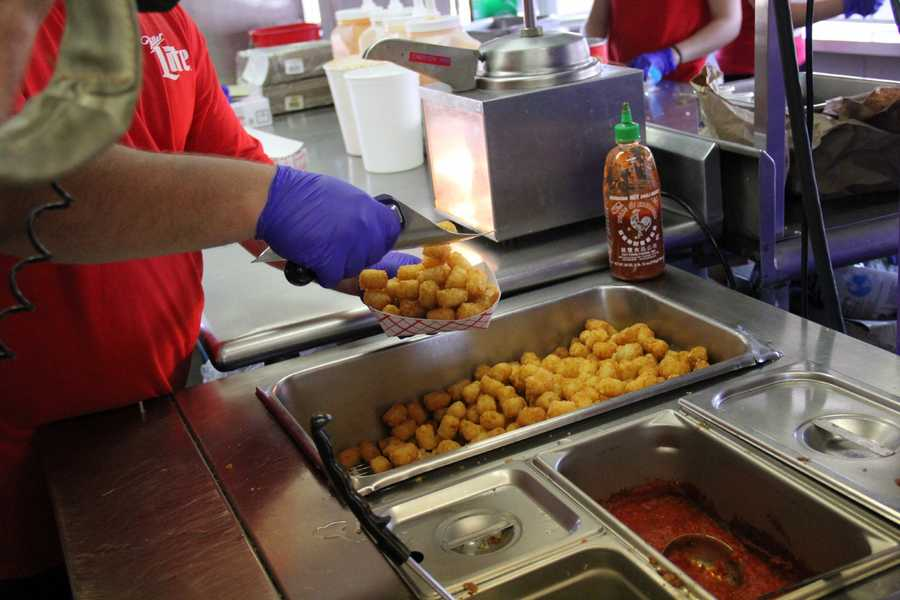 Obviously start with a base of fresh tots...