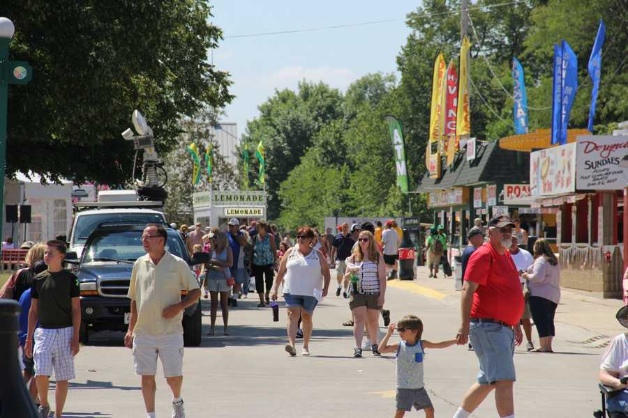 The heat appeared to keep the crowds low early on opening day.