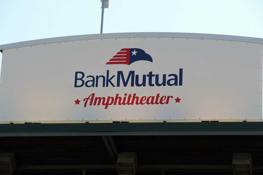 The Bank Mutual Amphitheater is the site of the Opening Ceremonies...