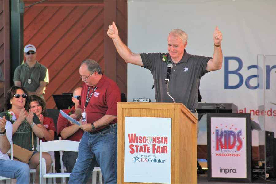 Milwaukee Mayor Tom Barrett was on hand.