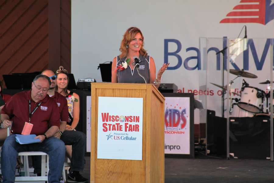 WI State Fair Interim CEO Kathleen O'Leary spoke. She is the first woman to lead the Fair.