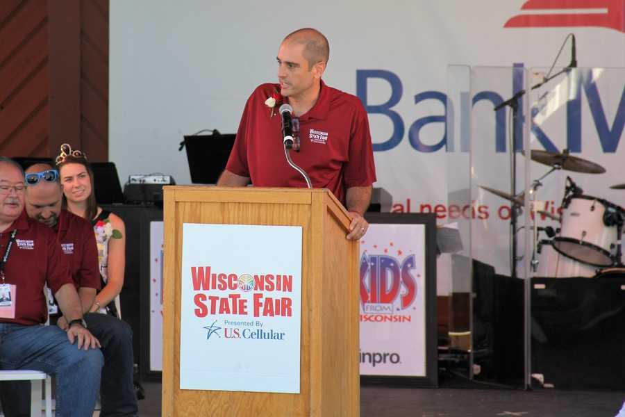West Allis Mayor Dan Devine also address the crowd.