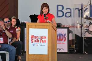Lieutenant Governor Rebecca Kleefisch talked about her time covering the fair as a reporter and coming with her kids.