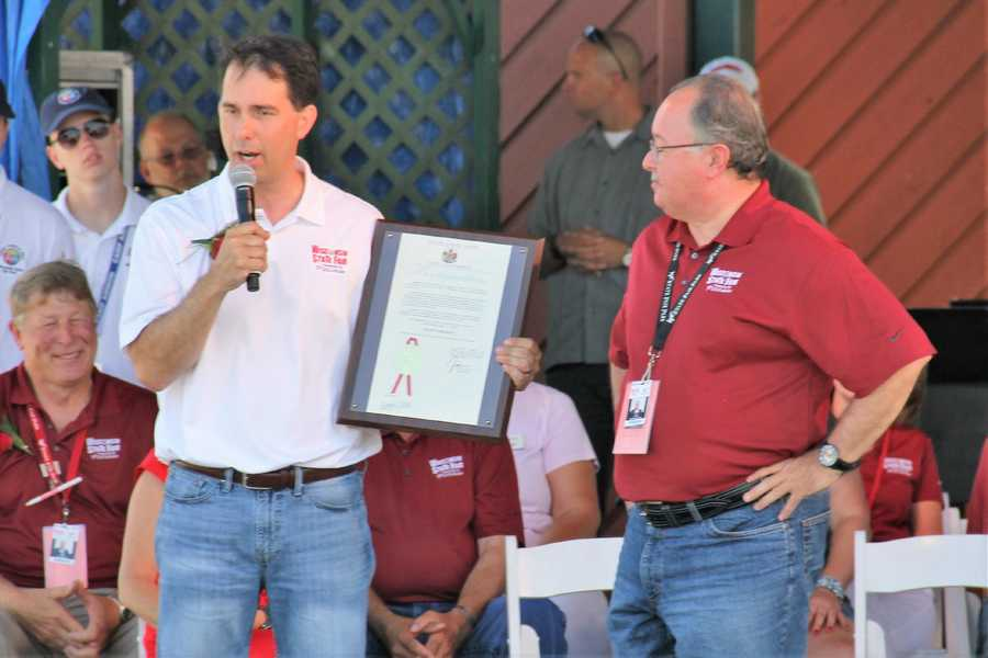 Governor Walker officially opened the 2016 (165th) Wisconsin State Fair with this proclamation.