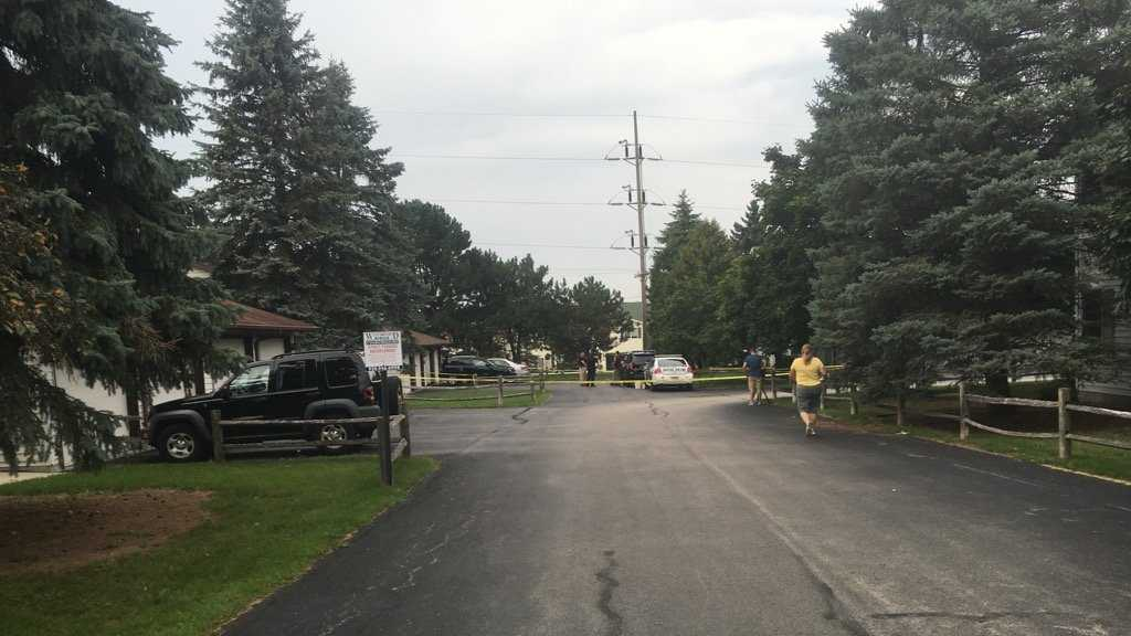 Sheboygan Falls police cordoned off the Westwood Ridge Condominiums with police tape as the death of a toddler was being investigated on Aug. 4, 2016.