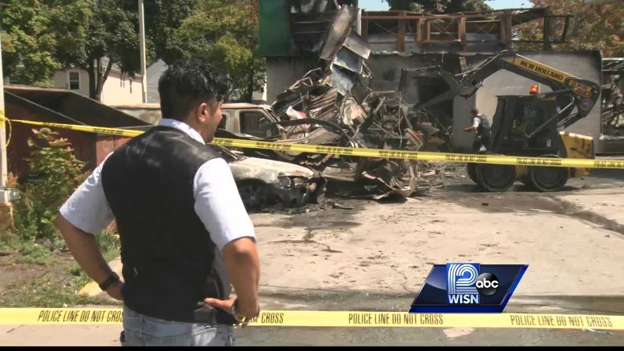 WISN 12 News' Mike Anderson reports the family owned gas station hopes to rebuild&#x3B; meanwhile,  the family is still bouncing back from the Sikh Temple shooting four years ago.